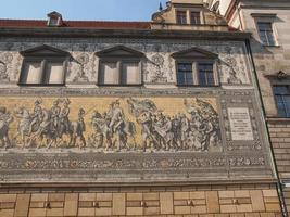 fuerstenzug procession des princes à Dresde, Allemagne photo