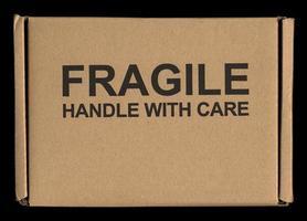 poignée fragile avec étiquette d'entretien photo