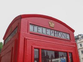 cabine téléphonique de londres photo