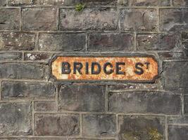 Bridge stree signe à Chepstow photo