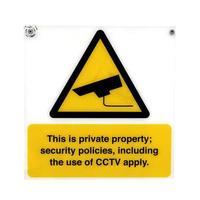 panneau d'avertissement de vidéosurveillance photo