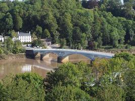 Vieux pont en wye à Chepstow photo