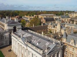 vue aérienne de cambridge photo
