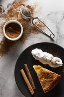 le délicieux assortiment de tartes aux pommes photo