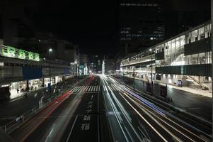 ville scintille lumière rues nuit photo