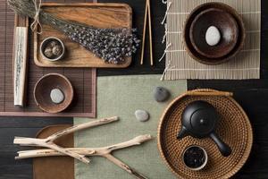 vue de dessus assortiment créatif feng shui photo