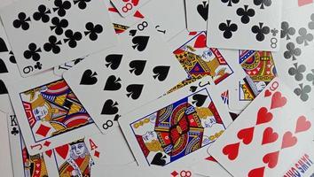 photo de cartes à jouer, photos de casse-tête