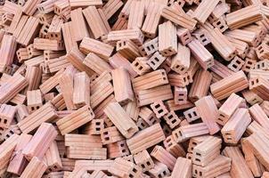 briques sur chantier. texture et fond photo