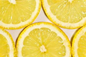 Macrophotographie de tranches de citron photo
