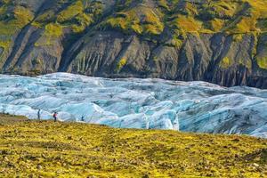Glacier svinafellsjokull dans le parc national de vatnajokull photo
