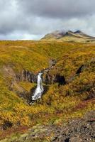 svartifoss en islande photo