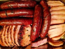 bacon, saucisse et jambon photo