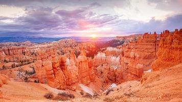 paysage naturel du parc national de bryce canyon en utah photo