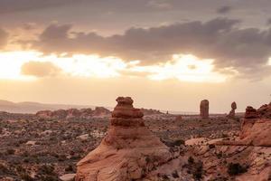 paysage au parc national des arches en utah photo