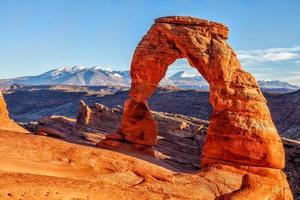 arche délicate au parc national des arches en utah usa photo
