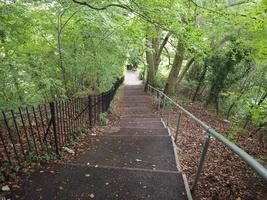 escalier menant au parc alexandra à Bath photo