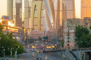 quartier des affaires de la ville de moscou en russie photo