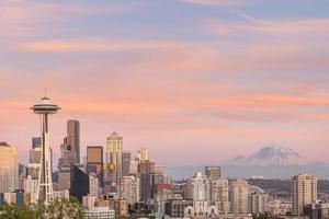 vue sur les toits du centre-ville de Seattle photo