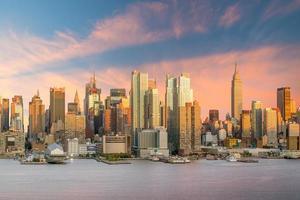 New York City Manhattan Midtown skyline au crépuscule photo
