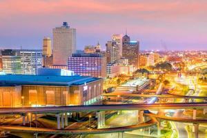 vue aérienne du centre-ville de memphis photo