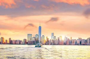 Horizon de Lower Manhattan de New York depuis le lieu d'échange photo