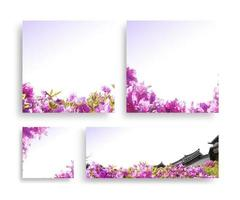 beau cadre de fleurs de printemps, invitation, carte de mariage photo