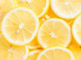 fond de tranches de citron photo