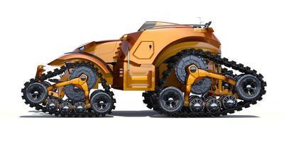 concept de tracteur autonome générique sans marque photo