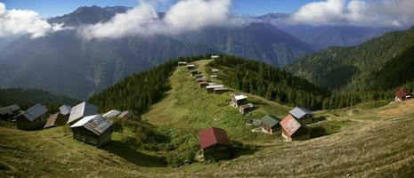 vue panoramique turquie, rize, plateau pokut, plateau photo