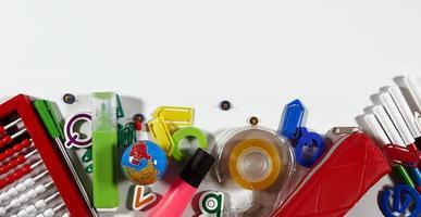 outils scolaires et de bureau photo
