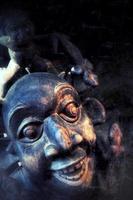 masque africain antique vintage abstrait photo