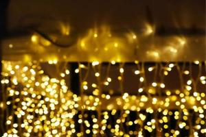 flou abstrait jaune doré photo
