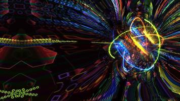 lumière magnétique quantique et futuriste photo