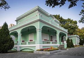Bâtiment historique du patrimoine colonial portugais dans la vieille ville de Taipa à Macao, Chine photo