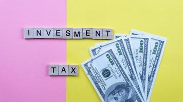concept de taxe d'investissement photo
