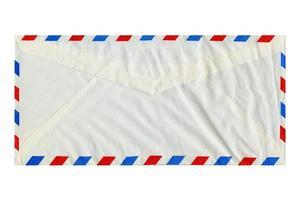 Enveloppe de lettre par avion isolée photo