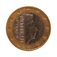 Pièce de 1 euro, union européenne, luxembourg isolé sur blanc photo