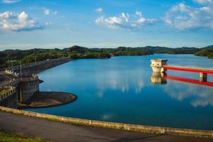 paysage du deuxième réservoir de baoshan situé dans le comté de hsinchu, taiwan photo