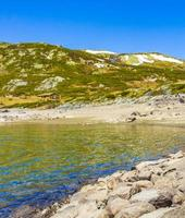 Panorama du lac vavatn, Hemsedal, Norvège photo