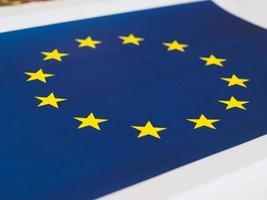 drapeau de l'union européenne photo