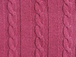 fond de texture de laine rouge violet photo