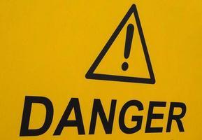 panneau d'avertissement de danger photo