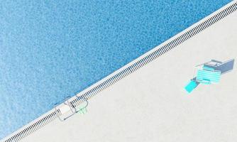 vue en diagonale d'une piscine photo