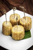 épis de maïs sucré tapas végétarien grignotines photo