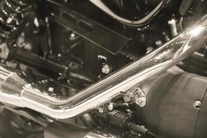 côté de la moto vintage lourde américaine d'une célèbre marque photo