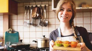 muffins au caramel maison dans un plat allant au four photo
