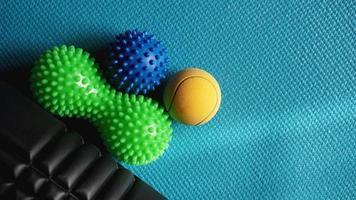 rouleau à billes de massage pour auto-massage, réflexologie photo