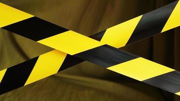 ruban rayé noir et jaune. frontière de zone réglementée photo