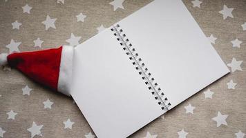 cahier pour écrire les objectifs du nouvel an photo