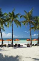 Station 2 zone de plage principale de l'île tropicale de Boracay aux Philippines photo